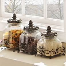 canisters kitchen decor product details loop glass canister set of 3 in 2019