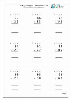 multiplication worksheets ks2 year 4 4463 multiplication 2 digits by 2 digits 2