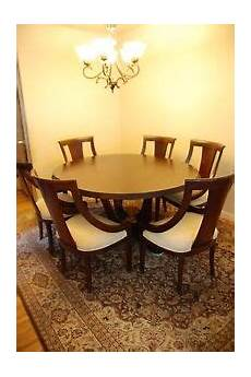 high end round dining room set w 6 chairs ebay