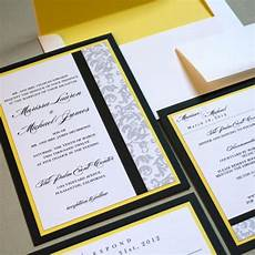 black white and yellow wedding invitations a sophisticated and bright wedding color palette onewed