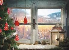 Wood Window Snowflakes Winter Outside