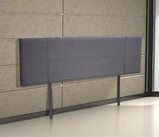 buy linen fabric king bed headboard bedhead grey