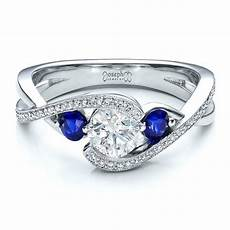 custom blue sapphire and diamond engagement ring 100056 seattle bellevue joseph jewelry