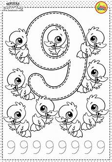 number 9 preschool printables free worksheets and coloring pages for kids learning numbers