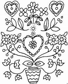 Malvorlagen Herz Winter Herz Mit Blumen Ausmalbild Malvorlage Blumen