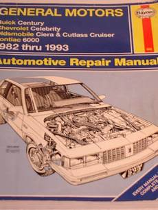 motor repair manual 1993 oldsmobile cutlass cruiser seat position control general motors buick century chevrolet celebrity oldsmobile ciera and cutlass cruiser