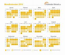 mondkalender 2014 mit vollmond halbmond neumond und