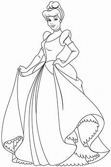 Malvorlage Prinzessin Cinderella Coloring Pages Disney Princesses Cinderella Through The