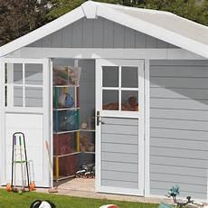 deco abri de jardin abri de jardin en pvc 7 5m 178 deco gris clair et blanc