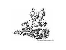 Malvorlage Pferd Reiterin Babyduda