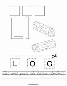 letter l worksheets cut and paste 23203 cut and paste the letters l o g worksheet cursive twisty noodle