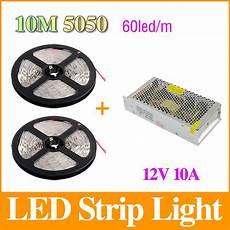 led strips 10 m 10m 5050 led strip 60leds m dc12v smd strips light 10a