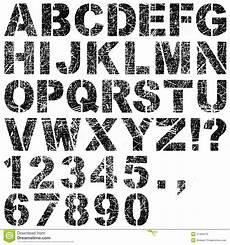 Malvorlagen Zahlen Und Buchstaben Schablonen Buchstaben Und Zahlen Vektor Abbildung