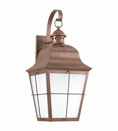sea gull lighting chatham 1 light outdoor wall lantern in weathered copper