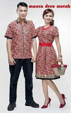 kemeja batik couple murah merah elegan baju batik pasangan murah baju batik couple