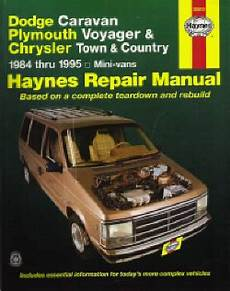 small engine repair manuals free download 1993 plymouth grand voyager parking system 1984 1995 chrysler caravan voyager town country haynes repair manual