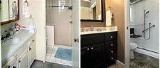 before after bathroom makeovers remodels from re bath