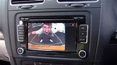golf mk 6 rear view with rcd 510 touch screen and