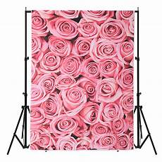 3x5ft Vinyl Lawn Pink Flowers by 3x5ft Vinyl Lawn Pink Flowers Floor Backdrop Photo