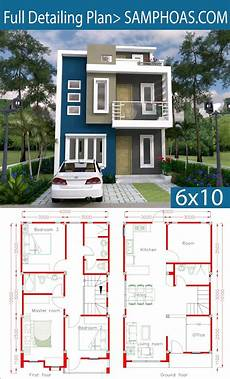 sketchup house plan sketchup home design plan 6x10m with 4 rooms with images