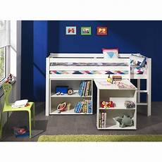 bureau lit combiné lit combin 233 enfant pin massif laqu 233 blanc harrold