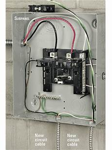 installing an electrical subpanel better homes gardens
