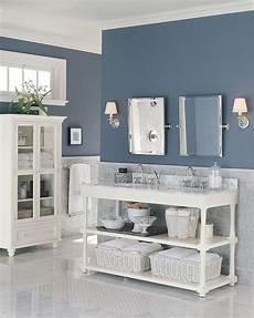 by kristine michels bathroom s slate blue walls