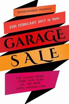 design garage garagen als garage sale flyer poster social media post template
