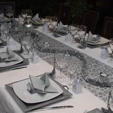 Deco Table Noel Blanc Et Gris