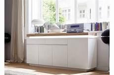Buffet Design Laqu 233 Blanc Mat Et Ch 234 Ne 224 Led Cbc Meubles