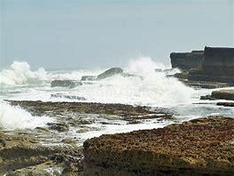 Image result for waves crashing at high tide filey