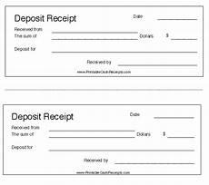 deposit receipt template 38 free printable receipt templates templatehub