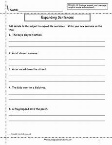 writing sentences worksheets for grade 1 22104 index of sentences