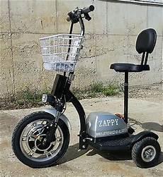 Elektro Scooter Mit Sitz Dreirad - 350w silber zappy golfcart elektroscooter dreirad