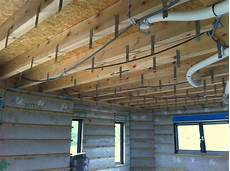 fixation plafond placo mob ossature bois isolation energie domotique