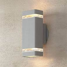 possini euro rectangular silver up down outdoor wall light t1282 ls plus