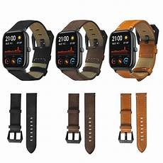 Bakeey Canvas Leather Band Amazfit bakeey 20mm genuine leather band for amazfit gts