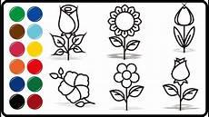 Cara Belajar Menggambar Dan Mewarnai Bunga Belajar