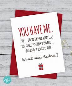 boyfriend card funny christmas card christmas card card snarky greeting card just