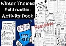 winter worksheets ks1 20027 winter themed subtraction activity book for eyfs ks1 subtraction activities book activities