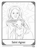Herald Store Free  St Agnes Coloring Pages