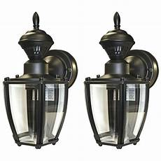 secure home 2 11 in black motion activated outdoor wall light ebay
