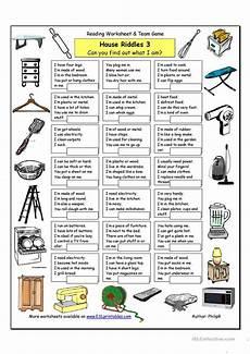 esl riddles worksheets 10892 house riddles 3 worksheet free esl printable worksheets made by teachers