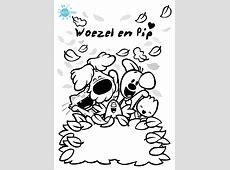 Print de gratis kleurplaat van Woezel en Pip, kleurplaat