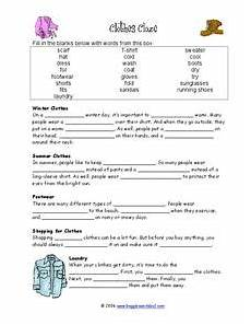 winter cloze activities worksheets 19955 clothes cloze worksheet for 3rd 4th grade lesson planet