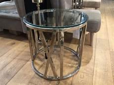 beistelltisch rund glas beistelltisch rund glas verchromt couchtisch metall