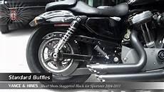 v h staggered black for sportster 2004 2011