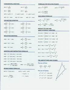 pre calculus formulas cheat sheet pictures to pin on pinterest pinsdaddy