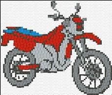 Motorbike 43 1275 X Stitch 10 Free Patterns