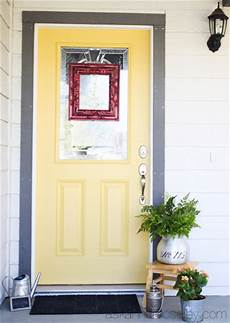 a yellow front door makeover ask